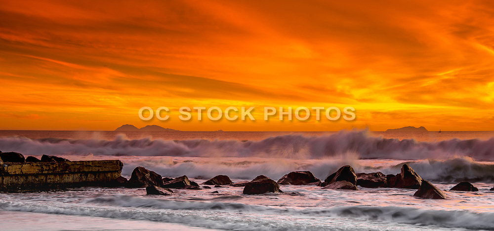 San Diego Coastline At Coronado Island During Sunset