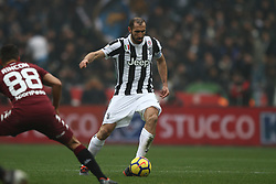 February 18, 2018 - Turin, Italy - Juventus defender Giorgio Chiellini (3) in action during the Serie A football match n.25 TORINO - JUVENTUS on 18/02/2018 at the Stadio Olimpico Grande Torino in Turin, Italy. (Credit Image: © Matteo Bottanelli/NurPhoto via ZUMA Press)