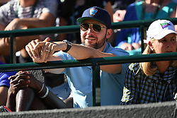 &copy; Licensed to London News Pictures. 02/07/2018. London, UK. Alexis Ohanian watcher his wife Serena Williams of the USA plays Arantxa Rus of the Netherlands in the Women&rsquo;s 1st round singles draw of the Wimbledon Tennis Championships 2018 <br />  Day 1. Photo credit: Ray Tang/LNP