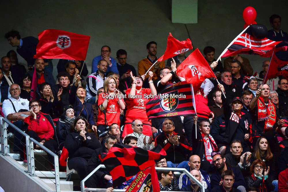 Supporters Toulouse - 24.04.2015 - Stade Francais / Stade Toulousain - 23eme journee de Top 14<br />