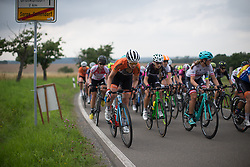 Roxanne Knetemann (NED) of Team Netherlands launches an attack near the top of the final climb of Stage 5 of the Lotto Thuringen Ladies Tour - a 108.3 km road race, starting and finishing in Greiz on July 17, 2017, in Thuringen, Germany. (Photo by Balint Hamvas/Velofocus.com)