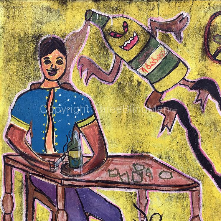 SRI LANKA. Painted school boundary wall. | threeblindmen photography ...