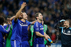 Didier Drogba, John Terry and Branislav Ivanovic of Chelsea celebrate after winning the Capital One Cup Final - Photo mandatory by-line: Rogan Thomson/JMP - 07966 386802 - 01/03/2015 - SPORT - FOOTBALL - London, England - Wembley Stadium - Chelsea v Tottenham Hotspur - Capital One Cup Final.