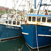 The Christina Eleni and Capt Gus fishing boats in Gloucester, MA harbor