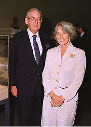 LORD & LADY SAINSBURY OF PRESTON CANDOVER, at a party in London on 24th September 1998.MKG 29