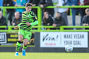 Forest Green Rovers Jack Aitchison(29), on loan from Celtic passes the ball forward during the EFL Sky Bet League 2 match between Forest Green Rovers and Mansfield Town at the New Lawn, Forest Green, United Kingdom on 19 October 2019.