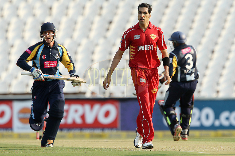 Umar Gul during 1st Qualifying match of the Karbonn Smart CLT20 South Africa between Uva Next and Yorkshire held at The Wanderers Stadium in Johannesburg, South Africa on the 9th October 2012..Photo by Ron Gaunt/SPORTZPICS/CLT20