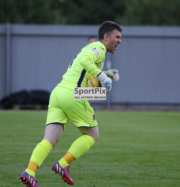 Mark Brown shouts at his defence  during the Dumbarton v East Fife Scottish League Cup group stage 19 July 2016<br /> <br /> (c) Andy Scott | SportPix.org.uk