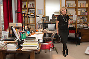 "March 11, 2015, Paris, France. Writer Maryse Wolinski (1943, Algiers) in the Paris' apartment where Georges and Maryse Wolinski used to live. Two month after the death of Georges Wolinski (1934 –2015), the apartment is full of souvenirs and notes, attesting a half-century-long love relation. In 2016 Maryse Wolinski published the book ""Chérie, je vais à Charlie"" about her husband and the attack on Charlie Hebdo. The cartoonist Georges Wolinski was 80 years old when he was murdered by the French jihadists Chérif en Saïd Kouachi, he was one of the 12 victims of the massacre in the Charlie Hebdo offices on January 7, 2015 in Paris. Charlie Hebdo published caricatures of Mohammed, considered blasphemous by some Muslims. During his life, Georges Wolinski defended freedom, secularism and humour and was one of the major political cartoonists in France. The couple was married and had lived for 47 years together. Photo: Steven Wassenaar."