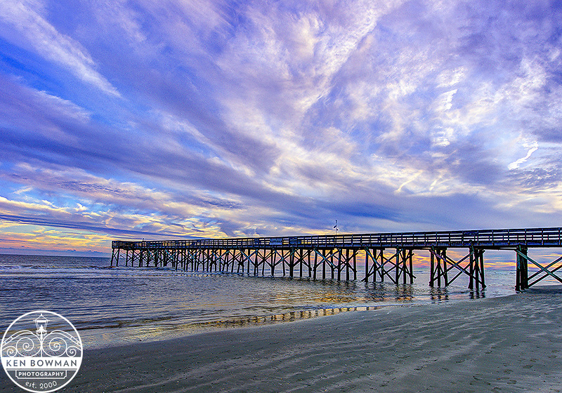 Isle of Palms Pier at Sunset.