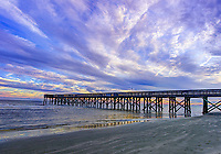 Isle of Palms Pier at Sunset.