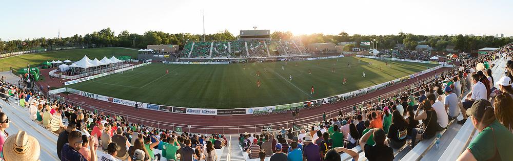 July 11, 2017: OKC Energy FC plays Liga MX club Pachuca in a friendly at Taft Stadium in Oklahoma City, Oklahoma.