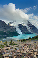 Mount Robson 3,954 m (12,972 ft) and Berg Lake from Mumm Basin, Mt. Robson Provincial Park British Columbia Canada
