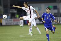 Fotball<br /> VM-kvalifisering<br /> 16.10.2012<br /> Kypros v Norge<br /> Foto: Savvides/Digitalsport<br /> NORWAY ONLY<br /> <br /> Magnus Wolff Eikrem - Norge<br /> Vincent Laban - Kypros