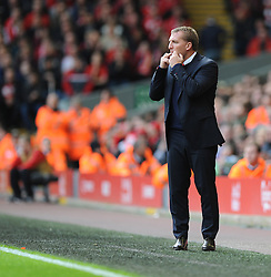 Liverpool Manager, Brendan Rodgers gives his team directions during the game. - Photo mandatory by-line: Alex James/JMP - Tel: Mobile: 07966 386802 26/10/2013 - SPORT - FOOTBALL - Anfield Stadium - Liverpool - Liverpool v West Brom - Barclays Premier League