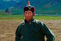 Mongolie, province de Bayankhongor, campement nomade, Dorjsuren Tsevel, 45 ans // Mongolia, Bayankhongor province, nomad camp, Dorjsuren Tsevel, 45 years old