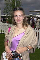 LADY SYBILLA RUFUS-ISAACS, a friend of Prince William, at a polo match in Berkshire on 30th July 2000.OGN 20