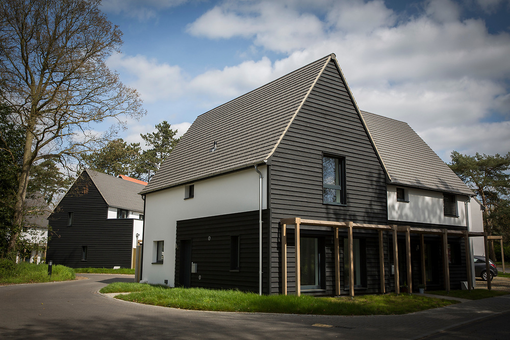 Completed Passivhaus homes on a brand new house construction site in Norwich. Norfolk. United Kingdom (photo by Andrew Aitchison / In pictures via Getty Images)