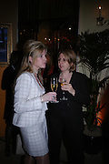Samantha Wylie Harris and Jackie Brown. Veuve Cliguot Business Woman of The Year award. Claridge's,  London W1. 28  April 2005. ONE TIME USE ONLY - DO NOT ARCHIVE  © Copyright Photograph by Dafydd Jones 66 Stockwell Park Rd. London SW9 0DA Tel 020 7733 0108 www.dafjones.com