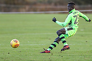 Forest Green Rovers Toni Gomez(25) shoots at goal scores a goal 1-2 during the The Central League match between Cheltenham Town Reserves and Forest Green Rovers Reserves at The Energy Check Training Ground, Cheltenham, United Kingdom on 28 November 2017. Photo by Shane Healey.