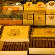 Cuban cigars are big business in Old Havana, Cuba.