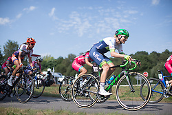 Tayler Wiles (USA) of Orica-AIS Cycling Team digs deep in the third lap of the 121.5 km road race of the UCI Women's World Tour's 2016 Grand Prix Plouay women's road cycling race on August 27, 2016 in Plouay, France. (Photo by Balint Hamvas/Velofocus)