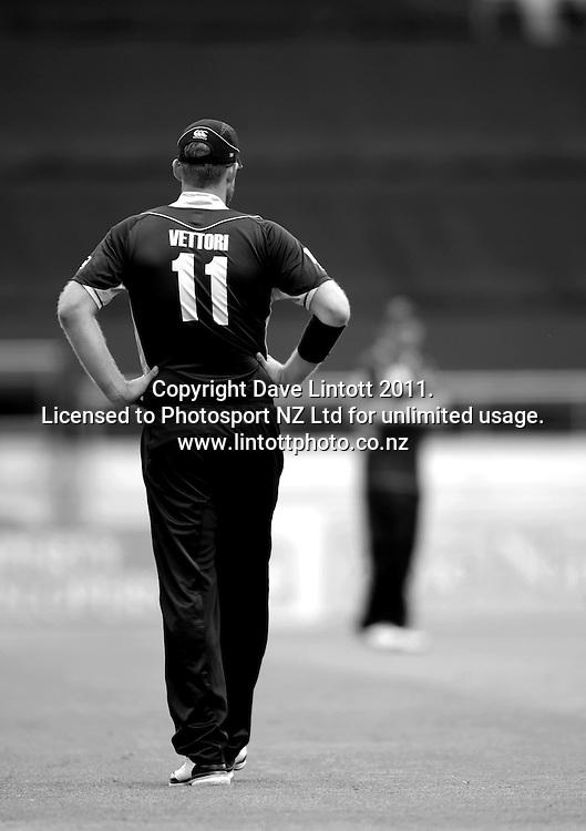 NZ captain Daniel Vettori. First one-day international cricket match - New Zealand v Pakistan at Westpac Stadium, Wellington, New Zealand on Saturday, 22 January 2011. Photo: Dave Lintott / photosport.co.nz
