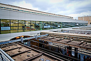 The new service area over the tracks of the station dedicated to travelers.<br /> Presented the new services plate to Rome's Termini railway station, new surfaces for 6,500 square meters. Of which 4,550 dedicated to food &amp; beverage and logistics. Approximately 870 tons of steel and 1,000 cubic meters of concrete. For a total investment of 125 million euro. Rome, Italy. 23th February  2016