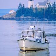 Hockamock Point Lighthouse. Minturn. Swan's Island Maine