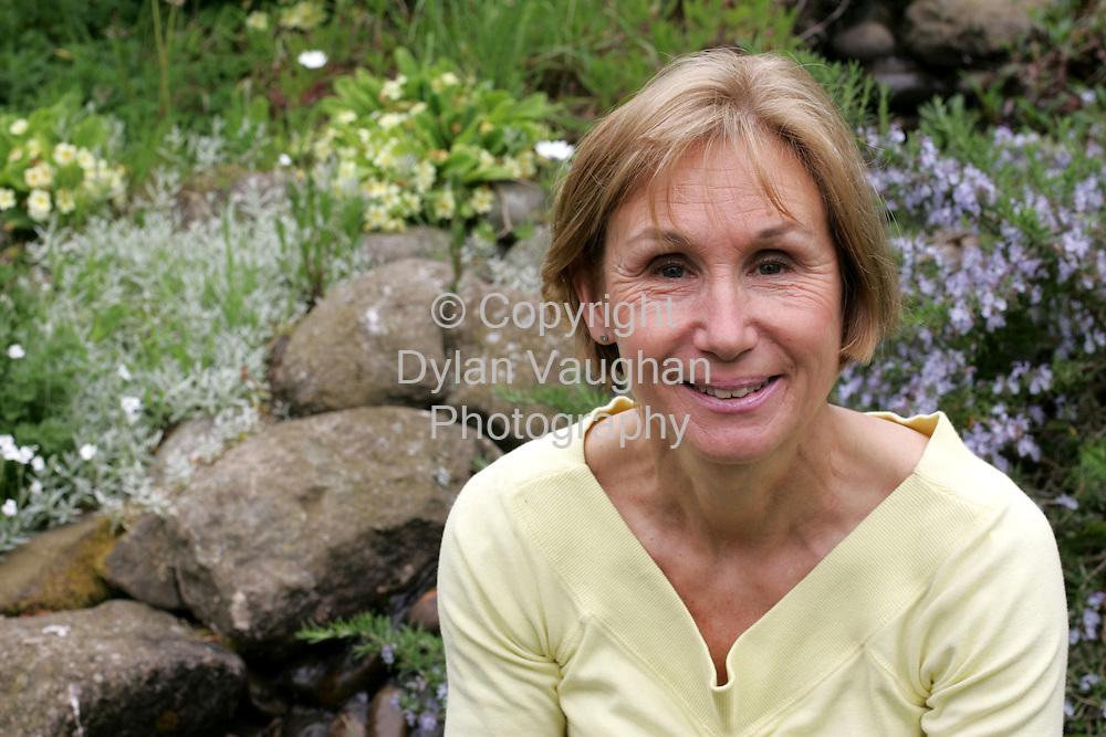 14/5/2004.Naomi Coad-Maenpaa pictured in her garden  at her home in Mahon Bridge.Picture Dylan Vaughan