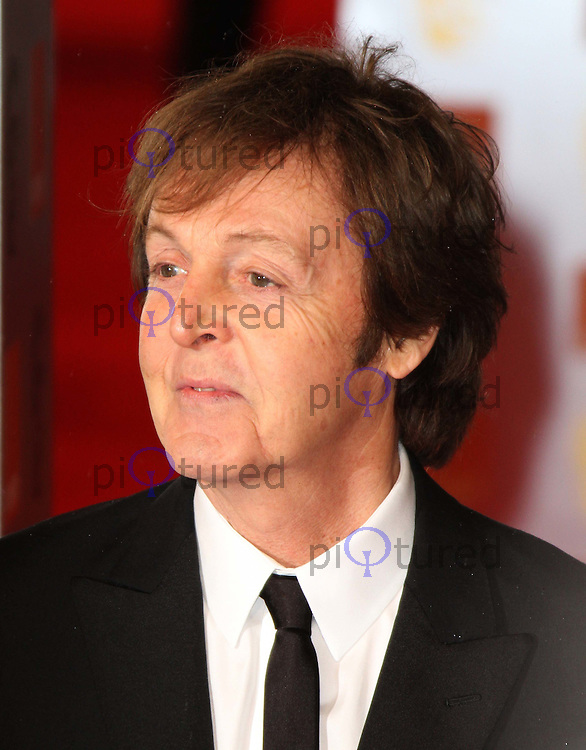 Sir Paul McCartney Orange British Academy Film Awards BAFTA, Royal Opera House, Covent Garden,London, UK, 13 February 2011: Contact: Ian@Piqtured.com +44(0)791 626 2580 (Picture by Richard Goldschmidt)