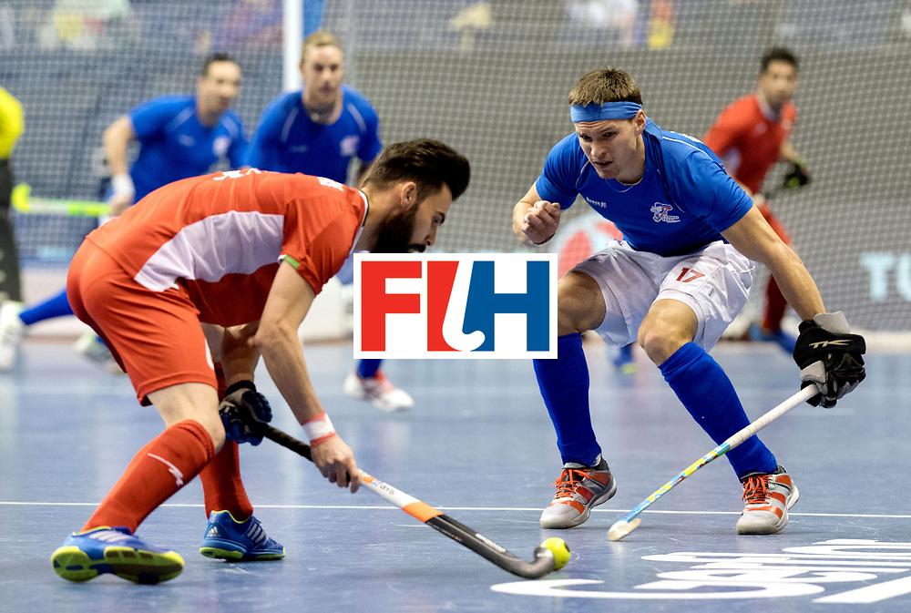BERLIN - Indoor Hockey World Cup<br /> Quarterfinal 1: Iran - Czech Republic<br /> foto: PLOCH&Yacute; Lukas.<br /> WORLDSPORTPICS COPYRIGHT FRANK UIJLENBROEK