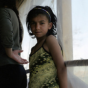 Roma waiting to be examined by volunteer doctors in a roma enclave in Kosovo. Roma are segregated and not welcomed in the society both in the serbian and kosovan side. They have no access to basic needs such as health, education and housing.