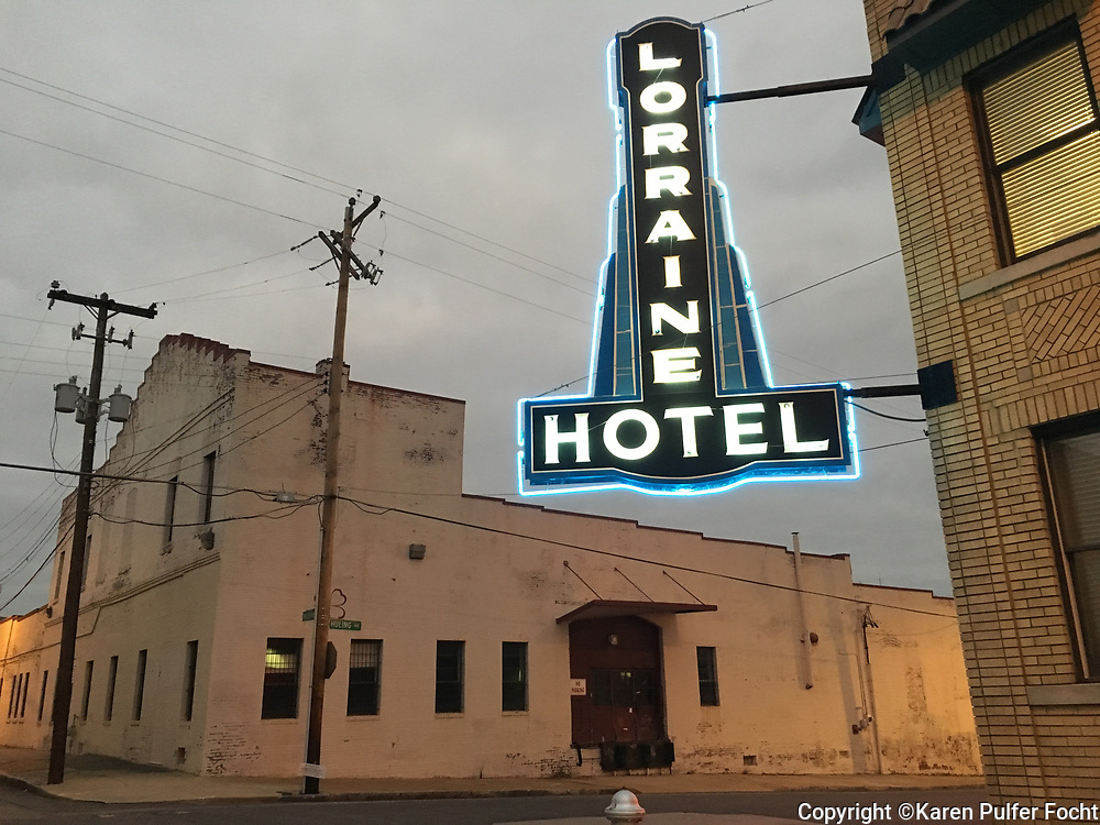 Loraine Hotel, the sight where Martin Luther King was assassinated in 1968 in Memphis, Tennessee. © Karen Pulfer Focht-ALL RIGHTS RESERVED-NOT FOR USE WITHOUT WRITTEN PERMISSION