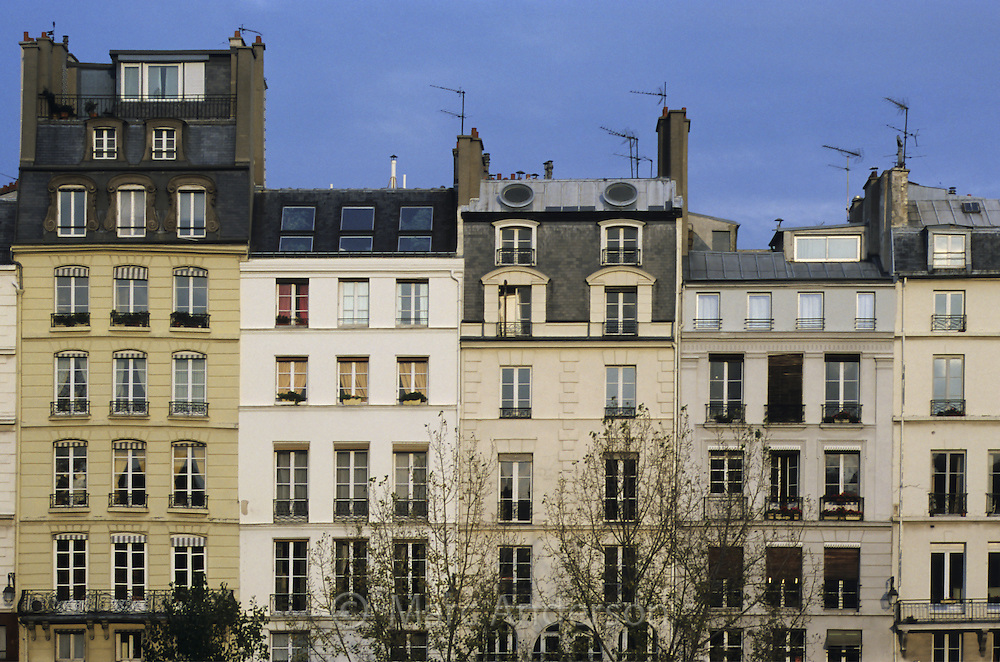 Houses Along the River Seine in Paris