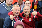 Northampton Town fans before the Sky Bet League 2 match between Exeter City and Northampton Town at St James' Park, Exeter, England on 16 April 2016. Photo by Graham Hunt.