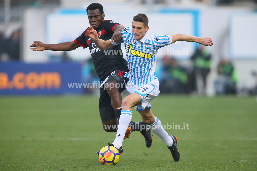 "Foto Filippo Rubin<br /> 10/02/2018 Ferrara (Italia)<br /> Sport Calcio<br /> Spal - Milan - Campionato di calcio Serie A 2017/2018 - Stadio ""Paolo Mazza""<br /> Nella foto: FEDERICO MATTIELLO (SPAL)<br /> <br /> Photo by Filippo Rubin<br /> February 10, 2018 Ferrara (Italy)<br /> Sport Soccer<br /> Spal vs Milan - Italian Football Championship League A 2017/2018 - ""Paolo Mazza"" Stadium <br /> In the pic: FEDERICO MATTIELLO (SPAL)"