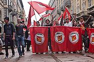 MayDay Parade 2013, Milano. Militanti di Rifondazione Comunista.