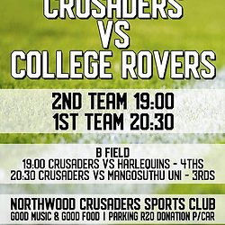 26,04,2018 Crusaders Rugby and College Rovers