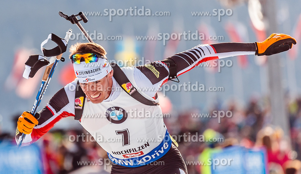 12.02.2017, Biathlonarena, Hochfilzen, AUT, IBU Weltmeisterschaften Biathlon, Hochfilzen 2017, Verfolgung Herren, im Bild Julian Eberhard (AUT) // Julian Eberhard of Austria during Mens pursuit of the IBU Biathlon World Championships at the Biathlonarena in Hochfilzen, Austria on 2017/02/12. EXPA Pictures © 2017, PhotoCredit: EXPA/ JFK