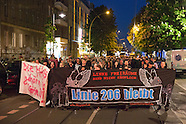 Linie206 protest against eviction