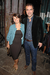 Actor JAMES NESBITT and his wife actress SONIA FORBES-ADAM at the Stephen Webster launch party of his latest jewellery collection during the London Jewellery Week, at Wilton's Music Hall, Graces Alley, Off Ensign Street, London E1 on 12th June 2008.<br />