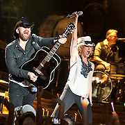 COLUMBIA, MD - May 22nd, 2011: Kristian Bush, and Jennifer Nettles of Sugarland perform at Merriweather Post Pavilion. The band released their fourth album, The Incredible Machine, in October of 2010. (Photo by Kyle Gustafson/For The Washington Post)
