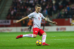November 10, 2017 - Warsaw, Poland - Krzysztof Maczynski (POL)  in action during the international friendly match between Poland and Uruguay at National Stadium on November 10, 2017 in Warsaw, Poland. (Credit Image: © Foto Olimpik/NurPhoto via ZUMA Press)