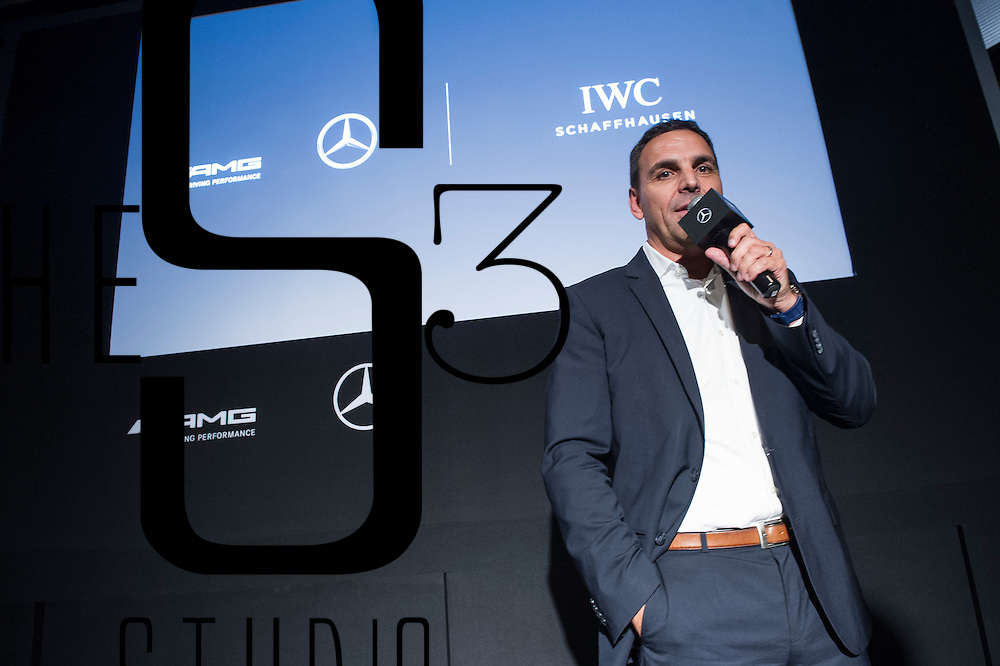 Andreas Binder, CEO of Mercedes-Benz Hong Kong, gives a speech during an IWC and Mercedes joint event on 24 August 2016 in Entertainment Building, Hong Kong, China. Photo by Lucas Schifres / studioEAST
