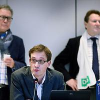 Nederland, Haarlem , 2 februari 2015.<br /> aftrap van de verkiezingscampagne voor de Provinciale Staten Verkiezingen Noord-Holland<br /> <br /> het voorstellen van van de lijstrekkers en het invullen van van de stemwijzer.<br /> Aan het woord is Alwin Hietbrink van GroenLinks<br /> <br /> Foto:Jean-Pierre Jans