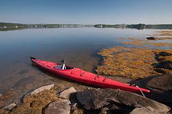 Kayak, Sheep Island, Castine, Maine, US