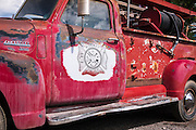Old fire truck, Ridgway, Colorado USA