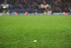 General view as tennis balls are thrown onto the pitch during the match - Mandatory by-line: Jack Phillips/JMP - 28/01/2017 - FOOTBALL - Ewood Park - Blackburn, England - Blackburn Rovers v Blackpool - FA Cup Fourth Round