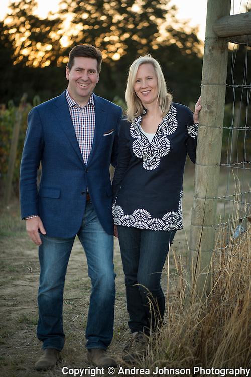 Open Claim Vineyards propriertors Brett & Marne Wall, Eola Hills AVA, Willamette Valley, Oregon